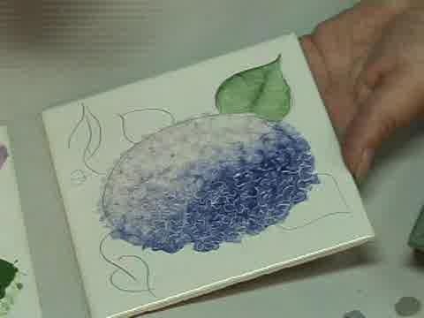 Pintura sobre cerámica: video paso a paso