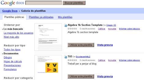Planillas de cálculo y herramientas de dibujo en Google Docs
