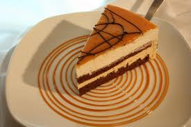 Torta mousse de dulce de leche light