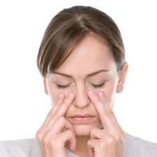 Masaje facial para la sinusitis