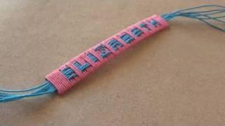 Cómo hacer un brazalete con nombre