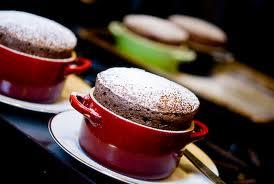 Soufflé de chocolate casero