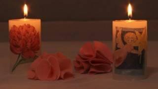 Cómo hacer velas decoradas con decoupage