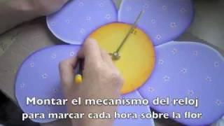 Cómo hacer un reloj para niños en pintura country