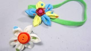 Cómo hacer una banda para el pelo con forma de flor