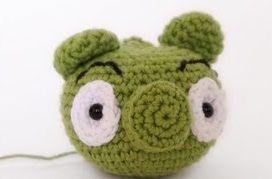 Cómo hacer un cerdo de Angry Birds en amigurumi