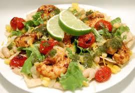 Ensaladas diet con pescados y mariscos