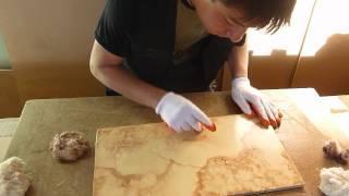Cómo hacer un falso acabado tipo mármol