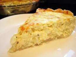 Tarta de cebolla y queso roquefort
