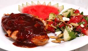 Pollo en salsa de sandía