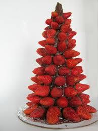 Arbol navideño de fresas