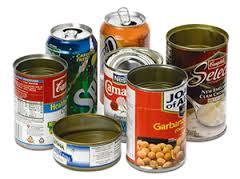 Organizador reciclado con latas