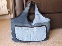 Bolso con jean reciclado