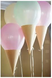 Cono de globo para un cumpleaños infantil