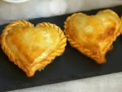 Empanadillas en forma de corazón