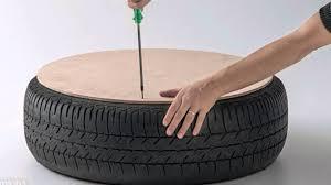 Sillón con neumático reciclado