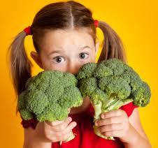 Niños vegetarianos
