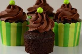 Cupcake vegano de chocolate y palta