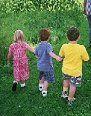 Compartiendo el jardín con los niños