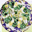 Ensalada de espinaca y queso
